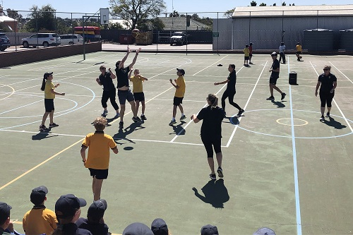 Wk 10 Staff vs Yr 6 Basketball Sept 25 2019 3 JPS